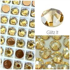 Genuine Swarovski Golden Shadow HOTFIX Flatback Crystals SS10 SS12 SS16 SS20 S34