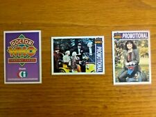Promo promotional trading cards Doctor Who set A1-A3 issued by Cornerstone