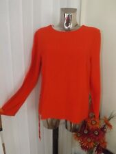 TU Red Long Sleeve Lace up Sides Tunic Top Size 14 Ladies