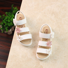 New Kid Summer Flat Leather Soft Shoes Fashion Girls Baby Flower Princess Shoes