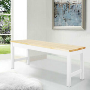Pine Wood Dining Kitchen Long Bench Hallway Garden Patio Seat Chair 2/3 Seaters