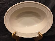 "Wedgwood Queen's Ware EDME 10"" Oval Vegetable Serving Bowl Made In England EVC"