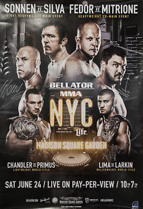 Bellator MMA 1st NYC EVENT [Fedor vs Mitrione Autographed Mini Poster]