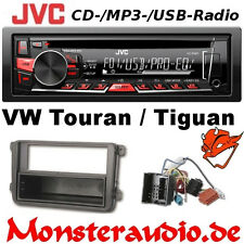 JVC Autoradio-Set für VW Tiguan Touran CD MP3 USB Radio + Radioblende & Adapter