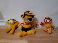 Vintage Garfield Stuffed Animal Plush New with Tags NWT Lot of 3