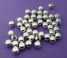 5mm silver plated brass square Seamless Spacer Beads 20pcs