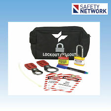 Lockout Tagout Kit Personal Pouch  Hasp Padlock Saf-T-Tags Ties Safety UL324