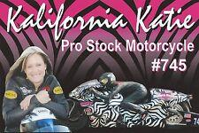 """KATIE SULLIVAN 2014 """"Kalifornia Katie"""" NHRA Drag Racing ProStock BIKE HANDOUT"""
