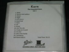 KORN - The Essential Korn - 28 Track DJ ADVANCE PROMO 2 CD Set! RARE!