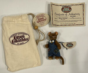 """Ganz Cottage Collectible Miniature Mouse """"Maxie"""" Stuffed Figurine"""