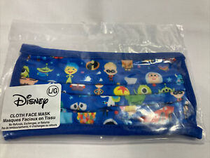 Disney Parks Pixar Characters Cloth Face Mask Large - NEW