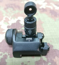 AIRSOFT AEG Rear 300m Back-Up Sight BLACK