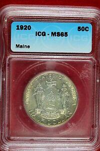 1920 Maine Comm. Half Dollar  ICG MS 65  (B9914)
