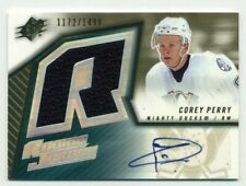 2005-06 SPX Jersey & Autograph Corey Perry #/1499 Rookie Card RC AUTO #171