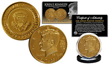 JFK100 JOHN F. KENNEDY 100th BIRTHDAY 1917-2017 Official 24K Gold Plated Coin