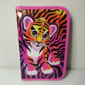 VTG Lisa Frank Tiger Cub Planner Notebook Holder Pencil Case Zip Close *RARE*