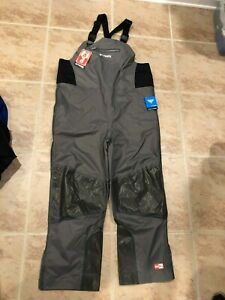 NWT $140.00 Columbia Womens PFG Outdry Hybrid Bib Pants / Waders Gray Size XL