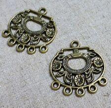 Antique bronze pendentif ou boucle d'oreille connecteur-pack de 10