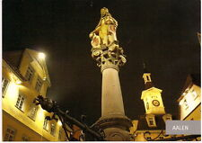 Farb AK Aalen Marktplatz, Nachtaufnahme