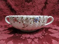 "Spode Wicker Dale, Floral on Chelsea Wicker: Cream Soup Bowl (s), 6.5"""