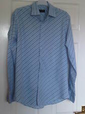 Burtons Blue Stripe Shirt - size medium