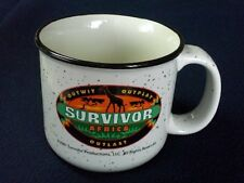 SURVIVOR Africa Campfire Mug w/ design matching logo on buff - NEW