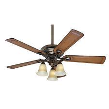 """HUNTER 52"""" Whitten """"Bronze Patina"""" Ceiling Fan w/ Light - Model #54059"""