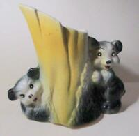 Bear Cubs Hugging Tree Pottery Planter Vase