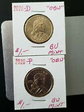 2020~P&D (2 Coins) ONE DOLLAR NATIVE AMERICAN  $1 COIN UNCIRCULATED MINT IN 2X2