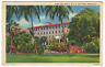 Army & Navy YMCA Building Honolulu Hawaii Vintage Linen Postcard ~ 2152