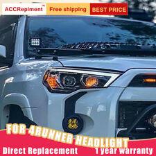 For Toyota 4Runner Headlights assembly Bi-xenon Lens Projector LED DRL 2016-2020