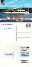 GERMAN PASSENGER SHIP MS BAYERN A SHIPS CACHED COVER & COLOUR POSTCARD