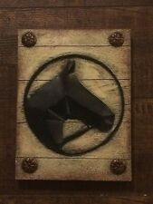 Equestrian metal Horse head Portrait wall / Stable  Décor