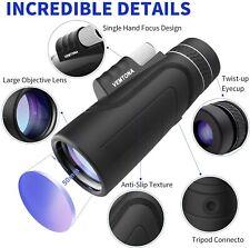Monocular Hd Telescopes 16x50 Waterproof Retractable Camping Hunting Watching
