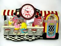 Vintage Coca Cola Burwood Wall Clock Soda Fountain Diner 1992 *not working