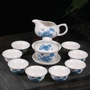 Kung Fu Tea Set Drinkware Purple Clay Ceramic Binglie Include Tea Pot Tea Cup