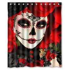 Brand New Day of the Dead Sugar Skull Waterproof Bath Shower Curtain 60 x 72