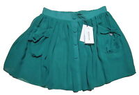 Gonna Donna Denny Rose In Tessuto Georgette Made In Italy 3055 Verde
