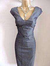 Karen Millen Size 10 Grey Office Pencil Dress