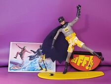 BATMAN SURFS UP  CLASSIC TV SERIES ACTION FIGURE LOOSE WITH SURFBOARD CARD STAND