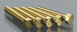 "Woodland Scenics H876 2-56 1/2"" Hex Head Machine Screw (5) Brass Hob-Bits"