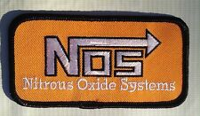 NOS NITROUS OXIDE SYSTEMS CLOTH PATCH ORANGE N2O THROTTLE IN A BOTTLE EFI FOGGER