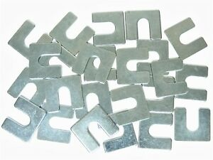 "Jeep Body & Fender Alignment Shims- 1/16"" Thick- 3/8"" Slot- 24 shims- #398T"