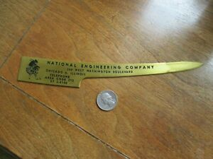 Vintage National Engineering Co Letter Opener - Scottish Bagpiper - Chicago IL