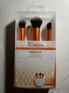 Real Techniques Flawless Base Foundation Buffing Contour Brush Set w/ Cup 91533