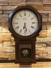 Beautiful Bulova C3543 Ashford Pendulum Wall Clock - Walnut Finish