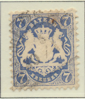 Bavaria (German State) Stamp Scott #35, Used