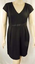 City Chic Black Cap Sleeve Spliced Mod Shift Dress Plus Size M 18 #p56