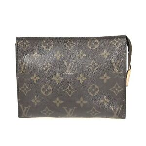 100% Authentic Louis Vuitton Monogram Poche Toilette 19 M47544 [Used] {08-0390}