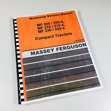 Massey Ferguson Mf 220 220 4 Compact Tractor Service Repair Shop Manual Workshop